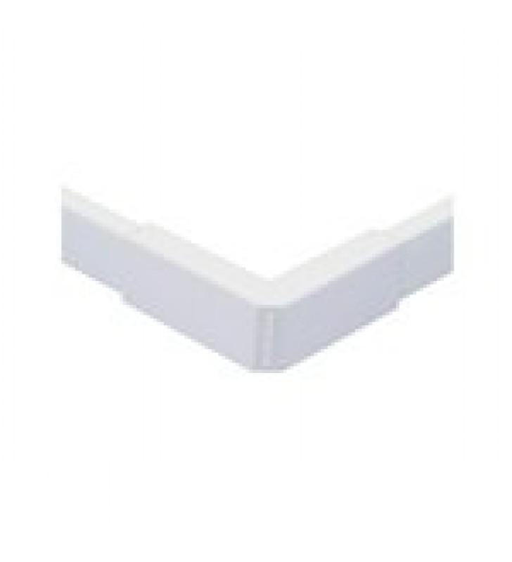 ESQUINERO EXTERIOR BLANCO DE PVC AUTO EXTINGUIBLE, PARA CANALETAS TMK1020, TMK1020SD, TMK1020CD (5110-02001)