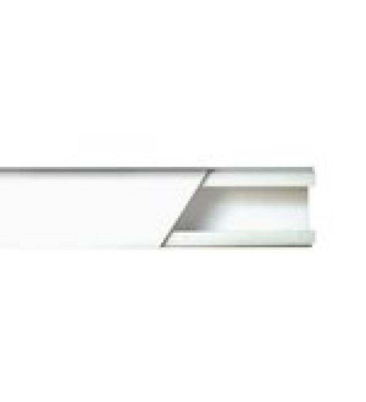 CANALETA COLOR BLANCO DE PVC AUTO EXTINGUIBLE DE UNA VIA, 20 X 17 TRAMO 2.5M (5201-01250)