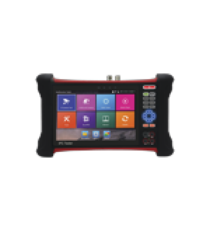 PROBADOR DE VIDEO ANDROID CON PANTALLA LCD DE 7 PARA IP ONVIF / HD-TVI 8MP (TURBOHD) / ANALOGO, ONVIF, WI-FI, SCANNER IP, WIFI, ENTRADA HDMI/MEDIDOR DE POTENCIA OPTICA