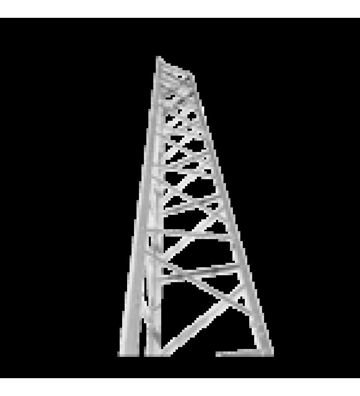 TORRE AUTOSOPORTADA. 24FT (7.3M) TITAN T300 GALVANIZADA (INCLUYE ANCLAJE)