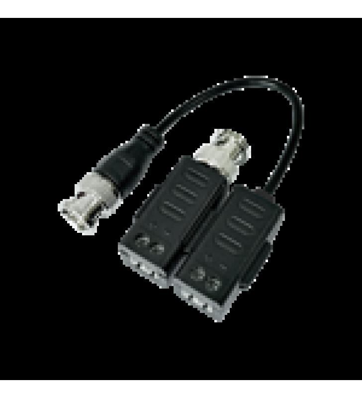 KIT DE TRANSCEPTORES (BALUNS) CON TERMINALES TIPO TORNILLO, TURBOHD HASTA 4K / 5 MP / HD-TVI/HD-CVI/AHD/CVBS / CONECTOR 100% COBRE / CON CABLE RF BLINDADO