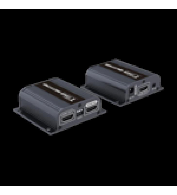 KIT EXTENSOR HDMI CON LOOP DE SALIDA, PARA DISTANCIA DE 50 METROS CON CABLE CAT 6 , SOLO UNA FUENTE DE ALIMENTACION EN EL TRANSMISOR, CON CONTROL IR, 1080 P @ 50/60 HZ , COMPATIBLE CON HDCP.