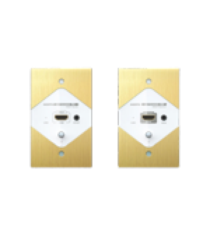 KIT EXTENSOR DE PARED PARA TRANSMISION HDMI A TRAVES DE LA CORRIENTE ELECTRICA Y CABLE  CAT6 A 120 METROS , CON CONTROL IR, RESOLUCION HASTA 1080P@ 50/60 HZ, COMPATIBLE CON HDCP.
