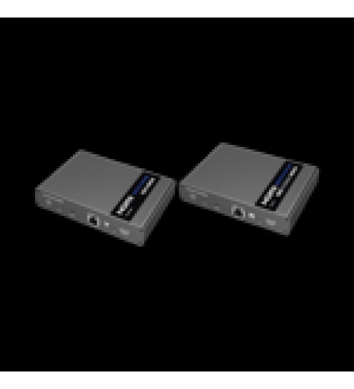 KIT EXTENSOR KVM ( TECLADO, VIDEO, MOUSE ) HDMI 4K 1080P @ 60 HZ, 70 METROS CON CABLE CAT6/6A/7