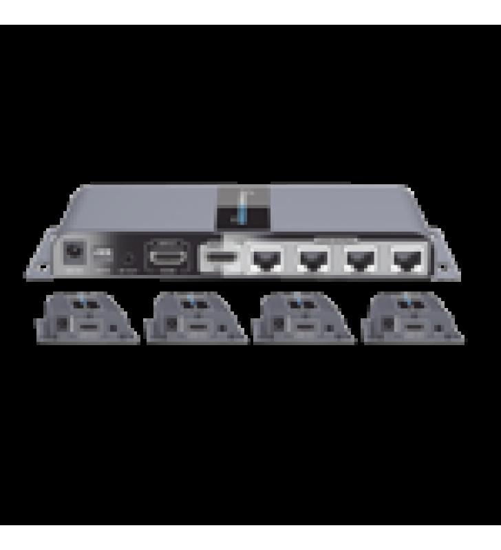 KIT COMPLETO DISTRIBUIDOR HDMI 1 X 4