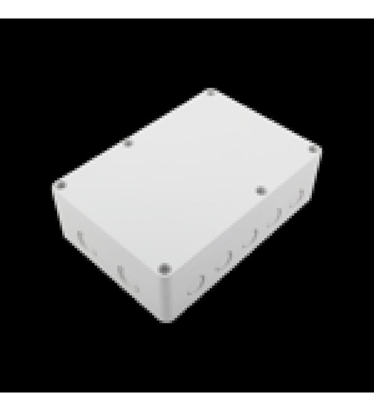 GABINETE PLASTICO PARA EXTERIOR (IP65) DE 180 X 125 X 57 MM CIERRE POR TORNILLOS.