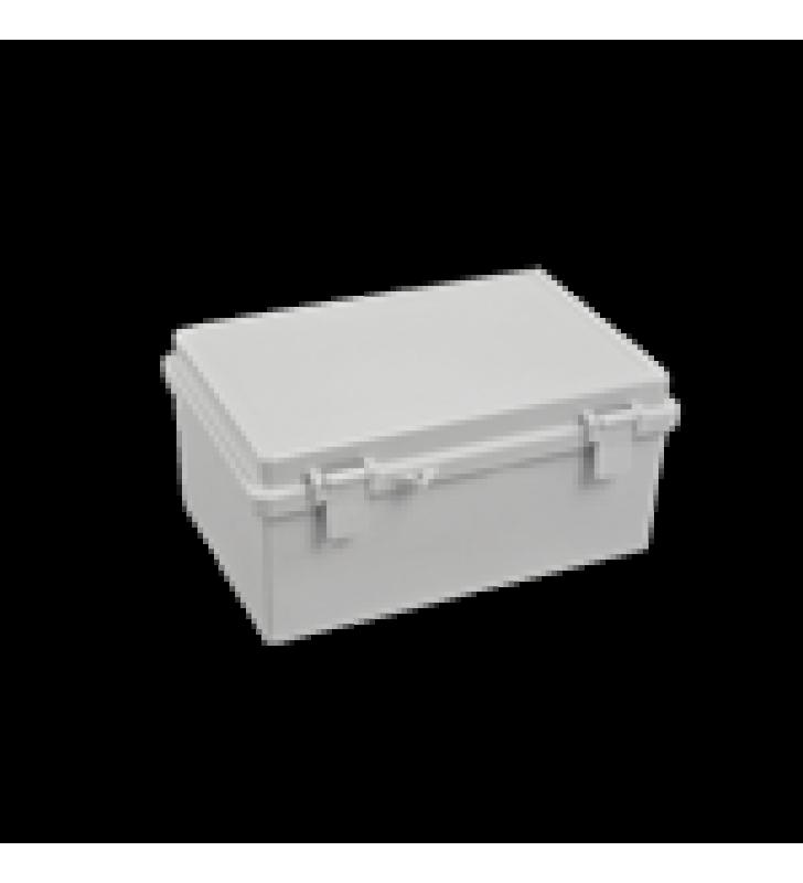 GABINETE PLASTICO PARA EXTERIOR (IP65) DE 150 X 220 X 105 MM CIERRE POR BROCHE.