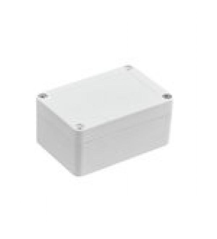 GABINETE PLASTICO PARA EXTERIOR (IP65) DE 100 X 68 X 50 MM CIERRE POR TORNILLOS.