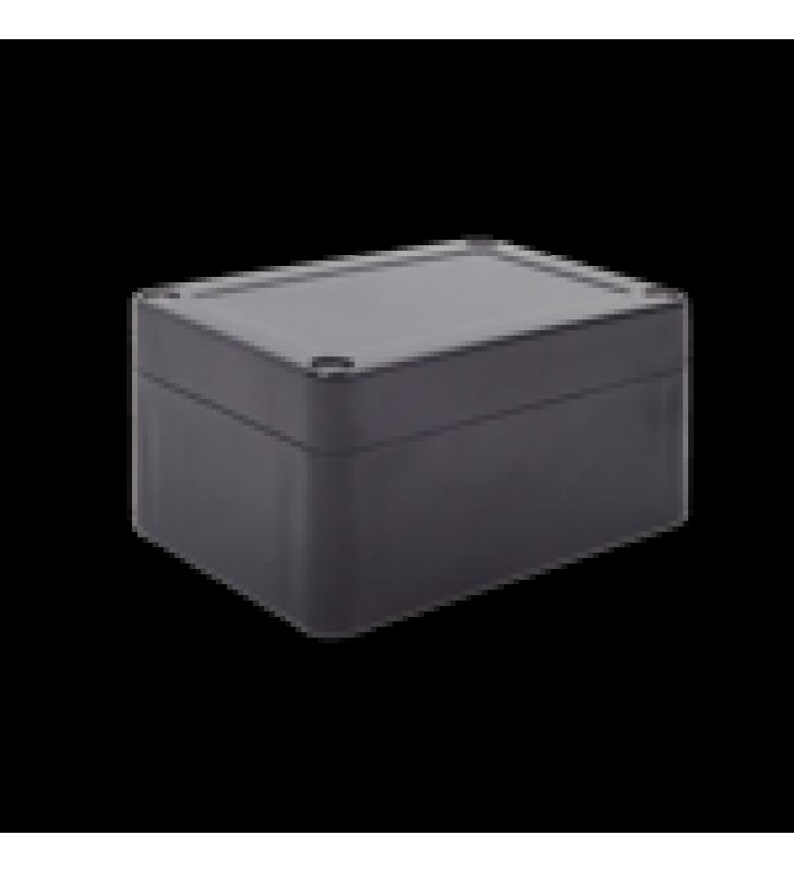 GABINETE PLASTICO NEGRO PARA EXTERIOR (IP65) DE 100 X 68 X 50 MM CIERRE POR TORNILLOS.
