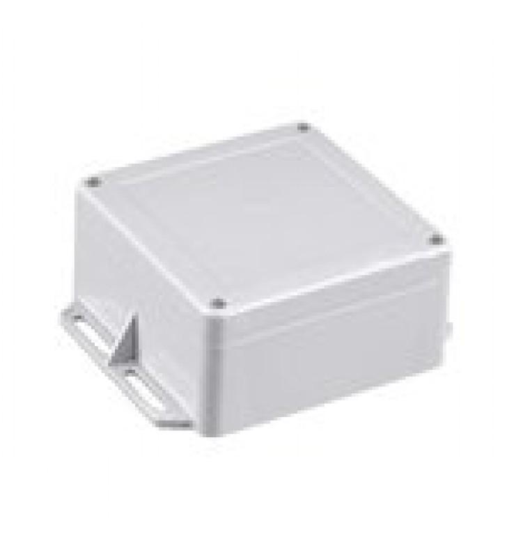 GABINETE PLASTICO GRIS PARA EXTERIOR (IP65) DE 120 X 120 X 60 MM CIERRE POR TORNILLOS.