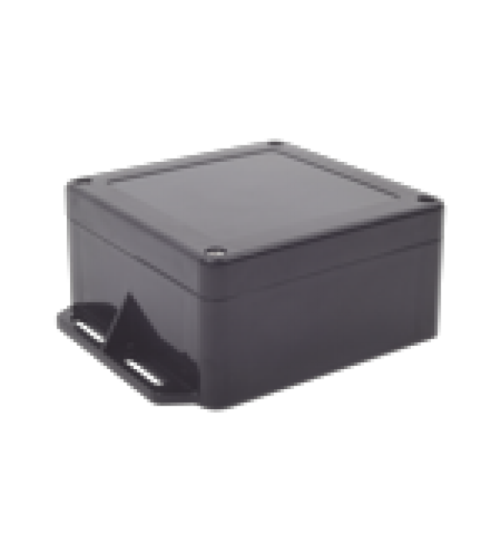 GABINETE PLASTICO NEGRO PARA EXTERIOR (IP65) DE 120 X 120 X 60 MM CIERRE POR TORNILLOS.