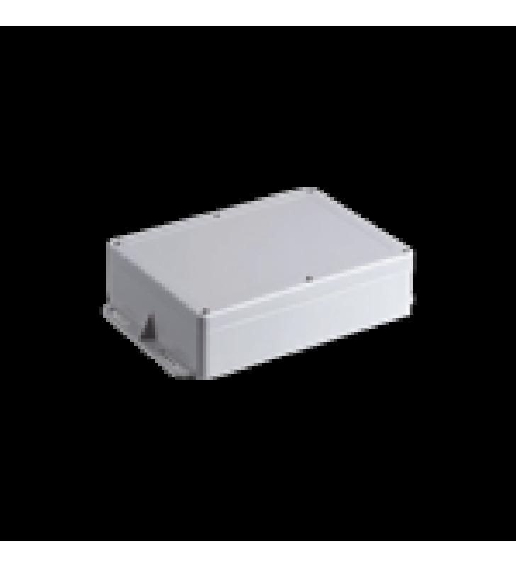 GABINETE PLASTICO PARA EXTERIOR (IP65) DE 160 X 220 X 100 MM CIERRE POR TORNILLOS METALICOS. TIENE OREJAS PARA INSTALACION A MURO.