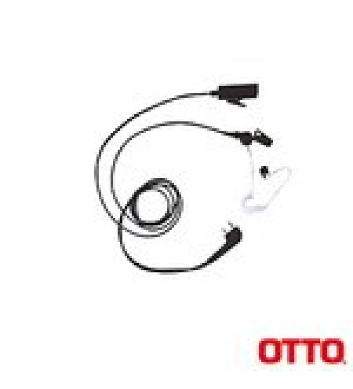 KIT DE MICROFONO-AUDIFONO PROFESIONAL DE 2 CABLES PARA KENWOOD NX-200/300/410/5000, TK-480/2180/3180