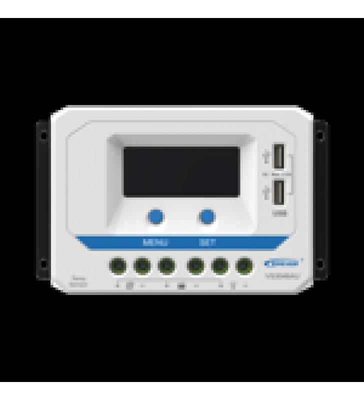 CONTROLADOR SOLAR DE CARGA PWM 12/24/36/48 V 30 A, SALIDA USB, CON DISPLAY