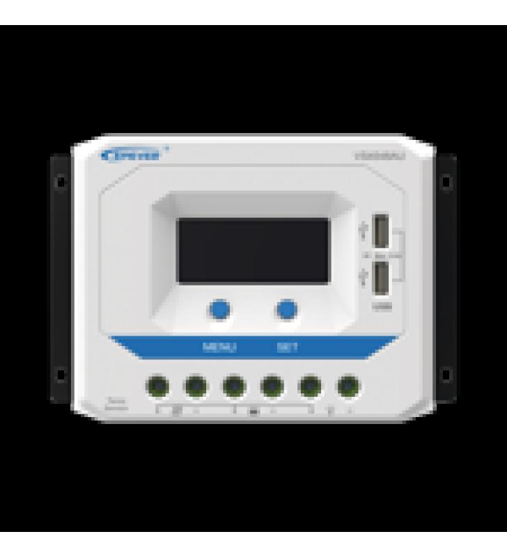 CONTROLADOR SOLAR DE CARGA PWM 12/24/36/48 V 45 A, SALIDA USB, CON DISPLAY