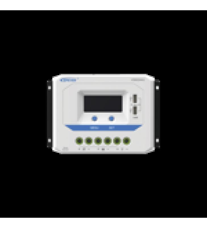 CONTROLADOR SOLAR DE CARGA PWM 12/24V 60 A, SALIDA USB, CON DISPLAY