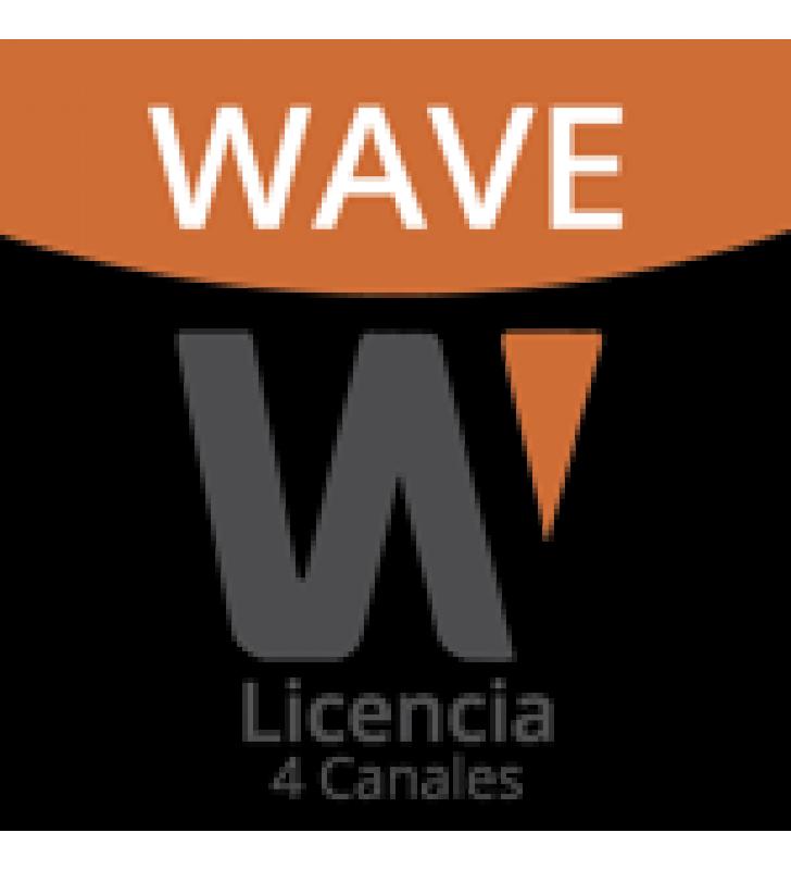 LICENCIA WISENET WAVE PARA 4 CANALES  DE GRABADOR HANWHA