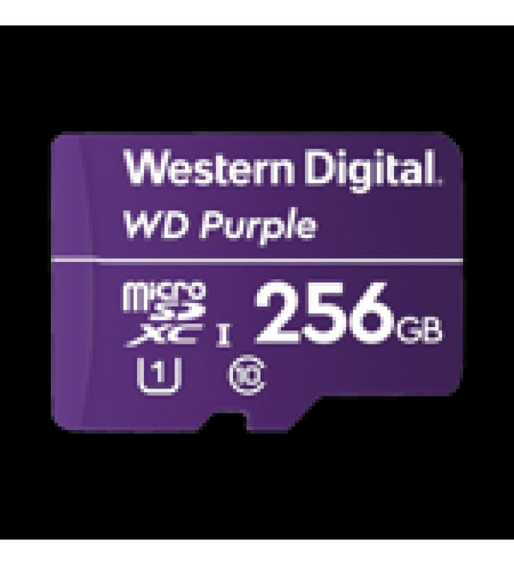 MEMORIA MICROSD DE 256 GB PURPLE, ESPECIALIZADA PARA VIDEOVIGILANCIA, 3 VECES MAYOR DURACION QUE UNA CONVENCIONAL