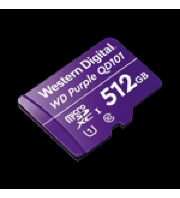 MEMORIA MICROSD DE 512 GB PURPLE, ESPECIALIZADA PARA VIDEOVIGILANCIA, 3 VECES MAYOR DURACION QUE UNA CONVENCIONAL