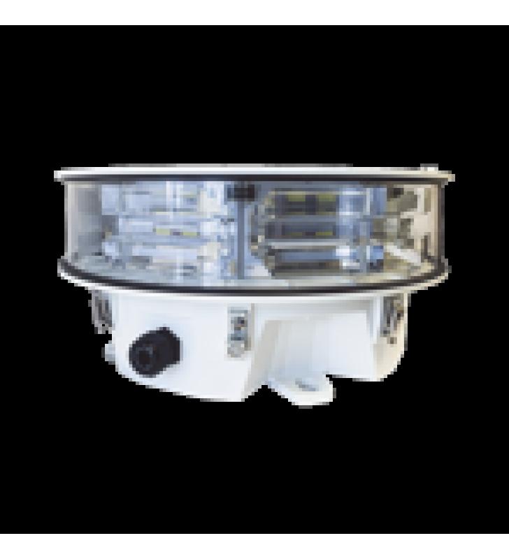 LAMPARA DE OBSTRUCCION LED BLANCA DE MEDIA INTENSIDAD,  TIPO L-865 ACORDE CON FAA AC-70/7460-1L,  (120 - 240 V CA).