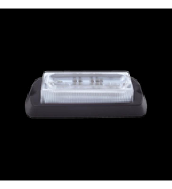 LUZ AUXILIAR ULTRA BRILLANTE X13 DE 4 LEDS, COLOR AMBAR, CON MICA TRANSPARENTE.
