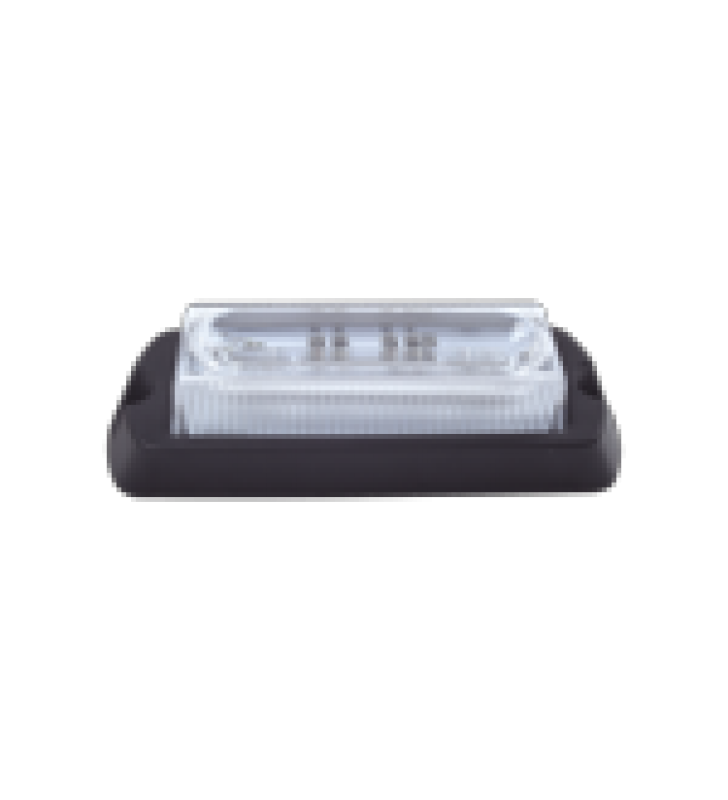 LUZ AUXILIAR ULTRA BRILLANTE DE 8 LEDS EN COLOR ROJO/AZUL CON MICA TRANSPARENTE