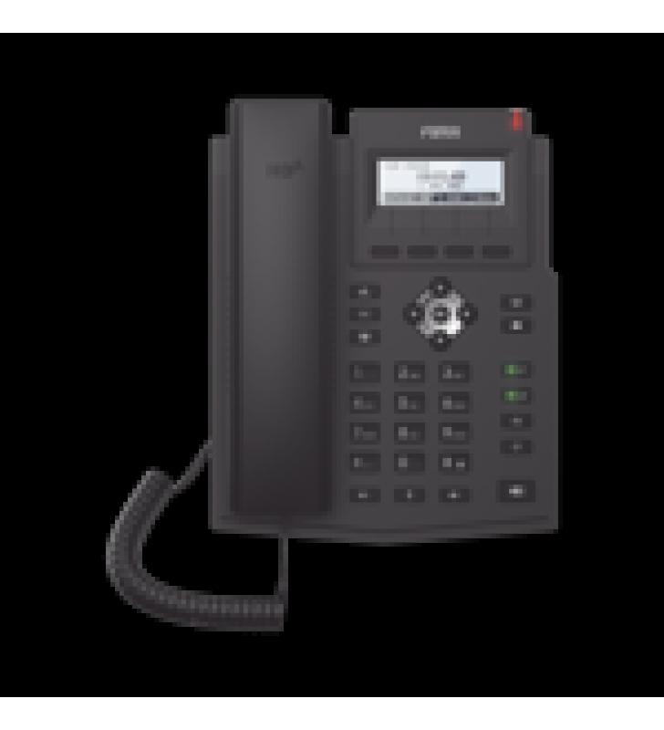 TELEFONO IP EMPRESARIAL PARA 2 LINEAS SIP CON PANTALLA LCD, CODEC OPUS, CONFERENCIA DE 3 VIAS, POE.