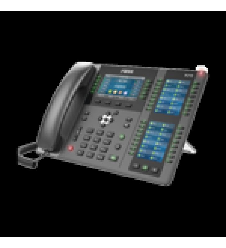 TELEFONO EMPRESARIAL IP HASTA 20 LINEAS SIP, 106 BOTONES DSS, CON BLUETOOTH INTEGRADO PARA DIADEMAS, PUERTOS GIGABIT, SOPORTA RECEPCION VIDEO, POE