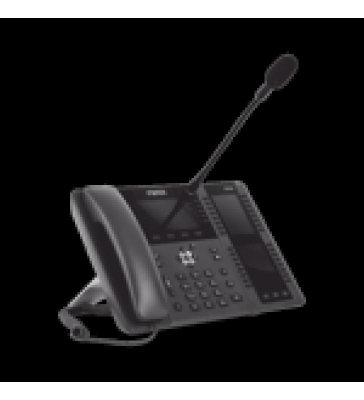 TELEFONO EMPRESARIAL IP HASTA 20 LINEAS SIP, MICROFONO EXTERIOR, 106 BOTONES DSS, BLUETOOTH INTEGRADO PARA DIADEMAS, PUERTOS GIGABIT, SOPORTA RECEPCION VIDEO, POE