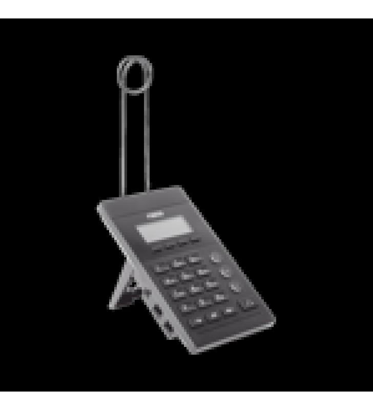 TELEFONO IP PARA CALL CENTER PARA 2 LINEAS SIP CON SOPORTE PARA DIADEMA, PANTALLA 128X48 RETRO-ILUMINADA, POE