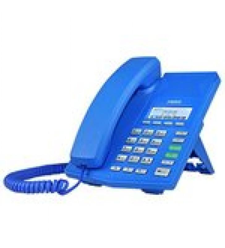 TELEFONO IP SOHO COLOR AZUL PARA 2 LINEAS SIP VOZ HD Y CONFERENCIA DE 3 VIAS, POE