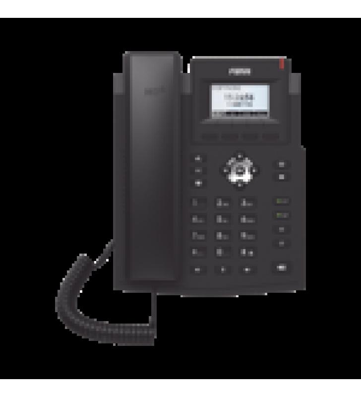TELEFONO IP GIGABIT EMPRESARIAL PARA 2 LINEAS SIP CON PANTALLA LCD, OPUS Y CONFERENCIA DE 6 PARTICIPANTES, POE.