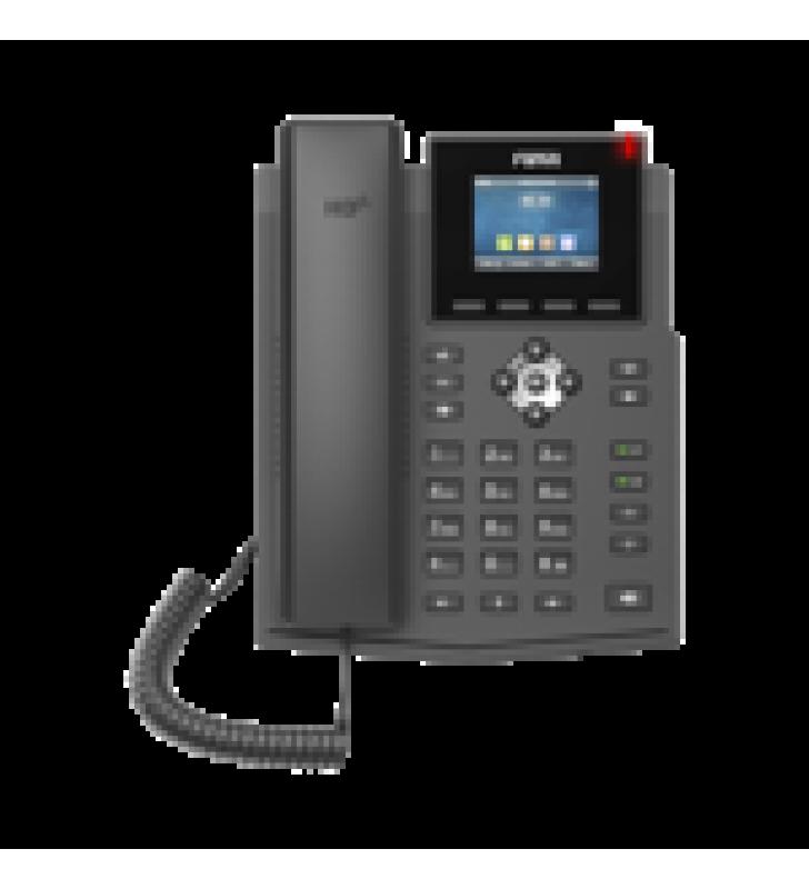 TELEFONO IP EMPRESARIAL PARA 4 LINEAS SIP CON PANTALLA LCD DE 2.4 PULGADAS A COLOR, OPUS Y CONFERENCIA DE 6 PARTICIPANTES, POE.