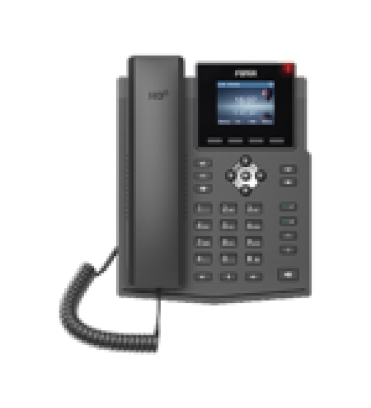 TELEFONO IP EMPRESARIAL PARA 4 LINEAS SIP CON PANTALLA LCD DE 2.4 PULGADAS A COLOR, OPUS Y CONFERENCIA DE 3 VIAS, POE.