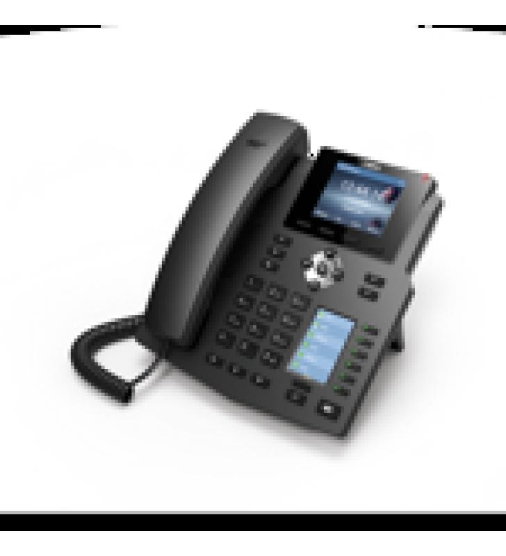 TELEFONO IP EMPRESARIAL PARA 4 LINEAS SIP CON 2 PANTALLAS LCD, 6 TECLAS BLF/DSS, PUERTOS GIGABIT Y CONFERENCIA DE 3 VIAS, POE