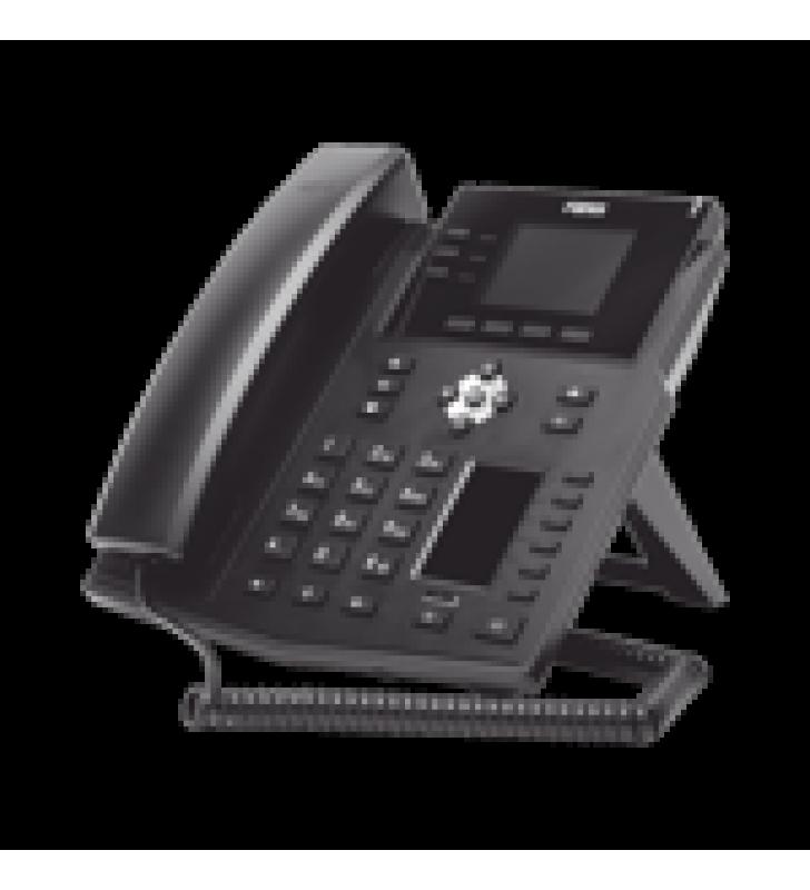 TELEFONO IP EMPRESARIAL CON ESTANDARES EUROPEOS, 12 LINEAS SIP CON PANTALLA A COLOR, 30 TECLAS DSS/BLF, PUERTOS GIGABIT, IPV6, OPUS Y CONFERENCIA DE 3 VIAS, POE/DC (INCLUYE FUENTE).
