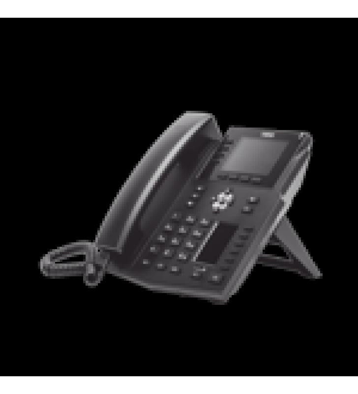 TELEFONO IP EMPRESARIAL CON ESTANDARES EUROPEOS, 16 LINEAS SIP CON PANTALLA LCD A COLOR, 30 TECLAS DSS/BLF, PUERTOS GIGABIT, IPV6, OPUS Y CONFERENCIA DE 3 VIAS, POE/DC (INCLUYE FUENTE).