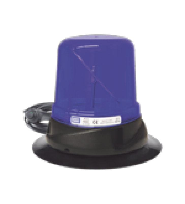 FARO HIBRIDO LED: ROTO LED, 12-24VDC, 125 RPM, MONTAJE DE VACIO-IMAN, AZUL
