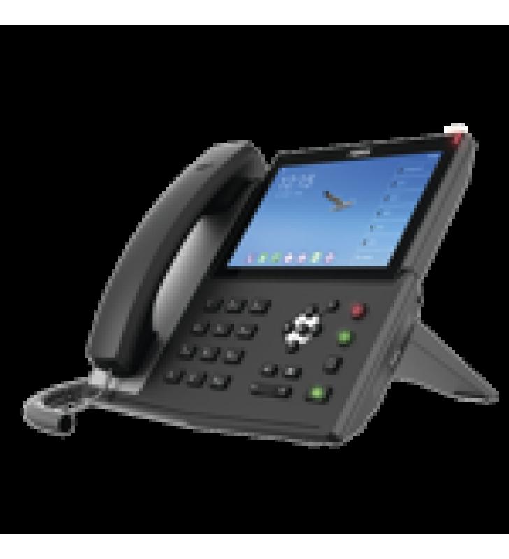 TELEFONO IP  ANDROID EMPRESARIAL PARA 20 LINEAS SIP, PANTALLA TACTIL, WI-FI Y BLUETOOTH, POE, HASTA 112 BOTONES DSS, PUERTOS GIGABIT, SOPORTA RECEPCION DE VIDEO.