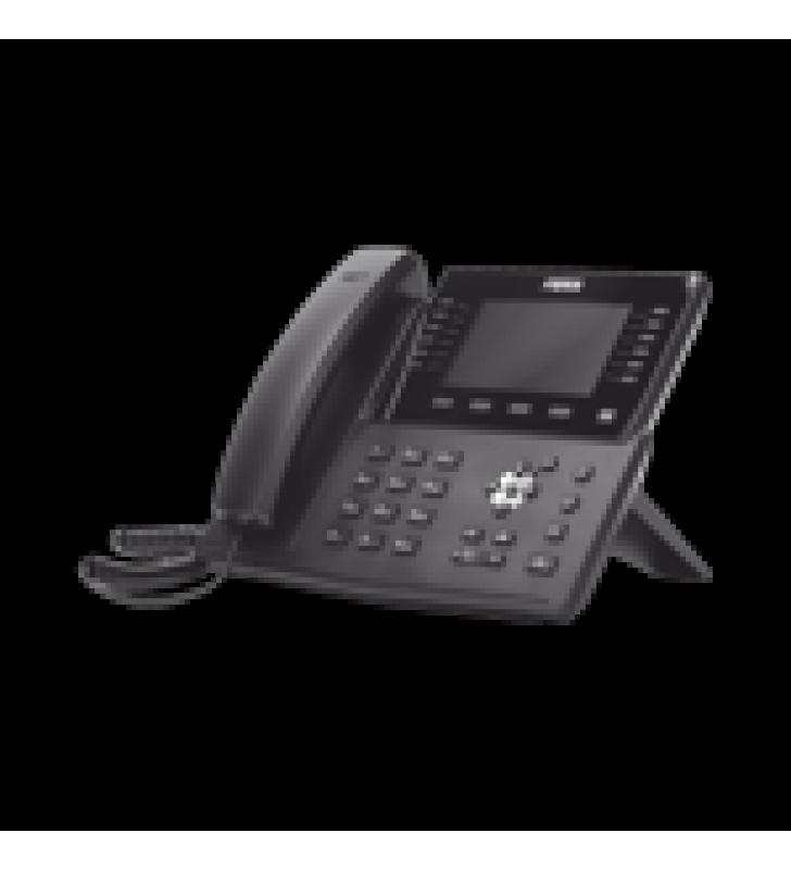 TELEFONO IP EMPRESARIAL PARA 20 LINEAS SIP, BLUETOOTH INTEGRADO PARA DIADEMAS, POE Y HASTA 60 BOTONES DSS CON DOBLE PUERTO GIGABIT, SOPORTA RECEPCION DE VIDEO
