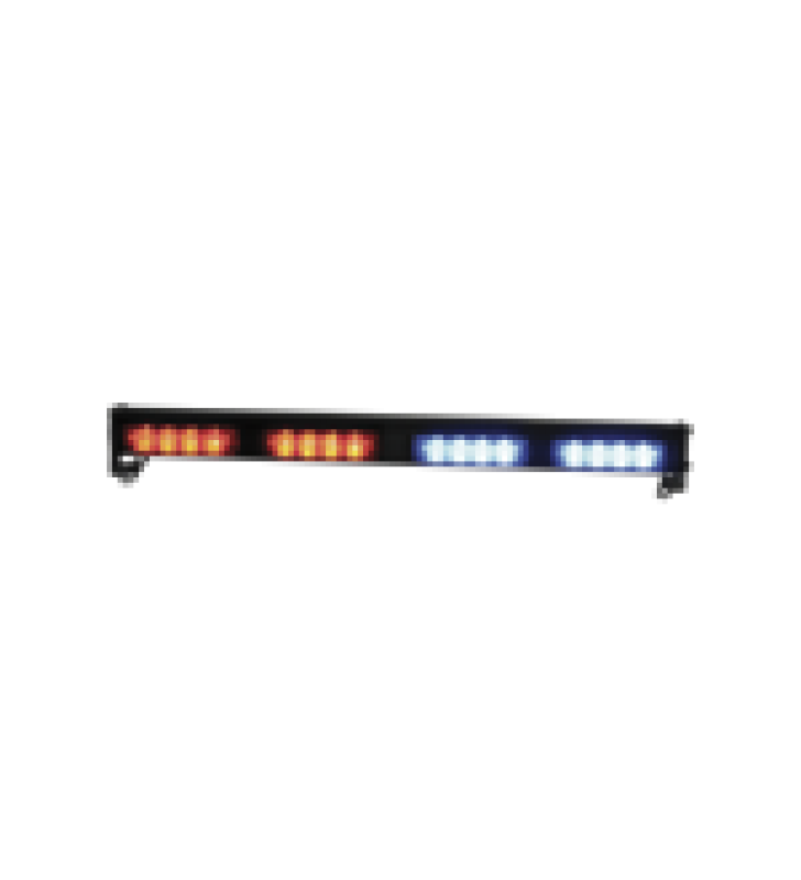 CABEZALES DE LUZ LED CUADRUPLE XT4 12 / 24VDC INTERMITENTE ROJO / AZUL