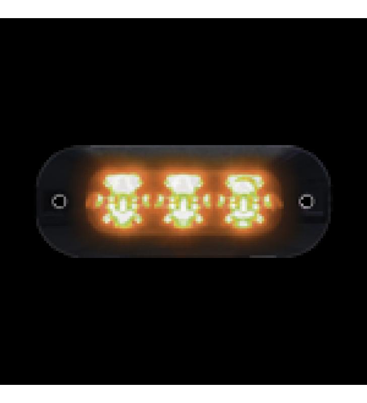 LUZ PERIMETRAL DE 3 LEDS COLOR AMBAR