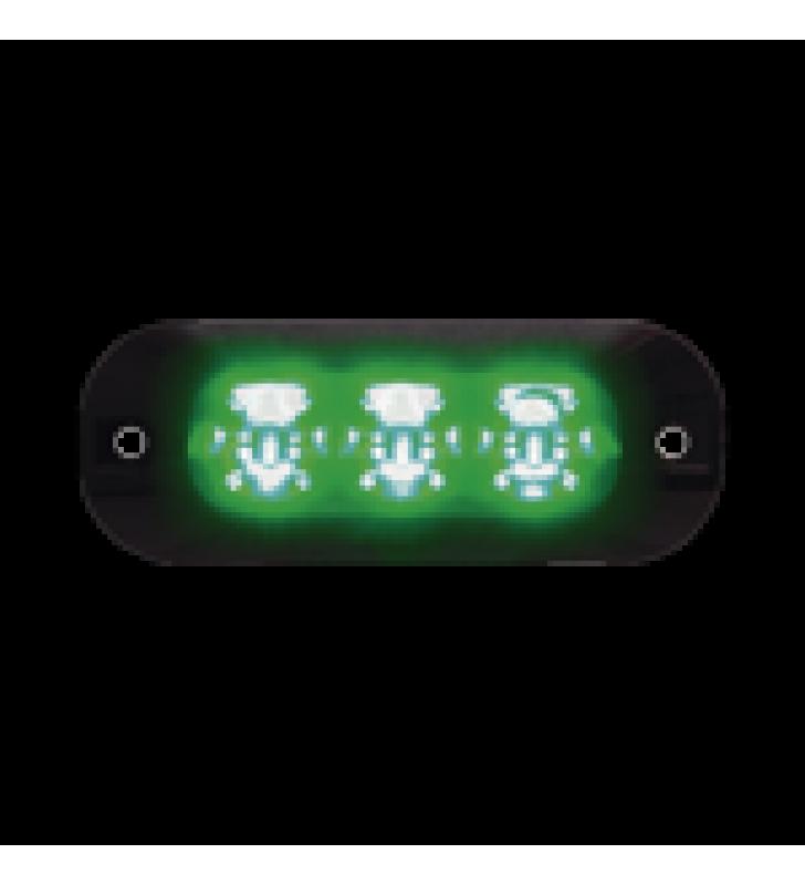 LUZ PERIMETRAL DE 3 LEDS COLOR VERDE
