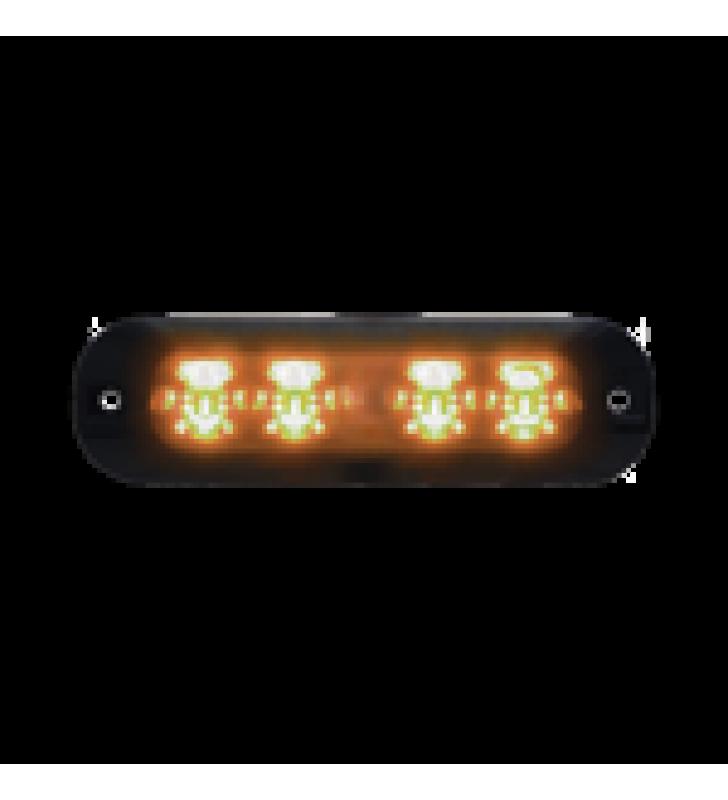 LUZ PERIMETRAL , 4 LEDS ULTRA BRILLANTES, COLOR AMBAR