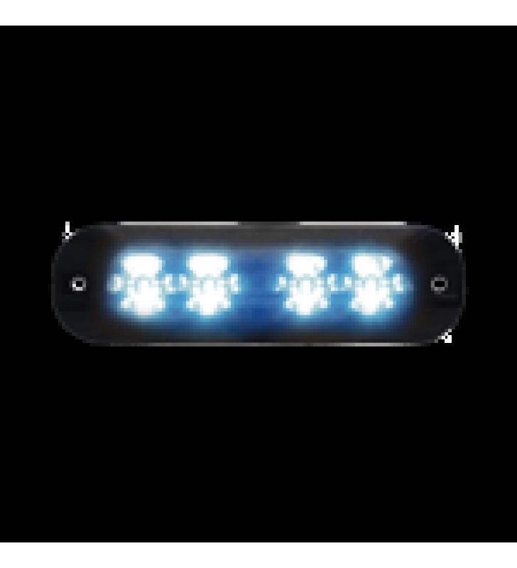 LUZ PERIMETRAL , 4 LEDS ULTRA BRILLANTES, COLOR AZUL