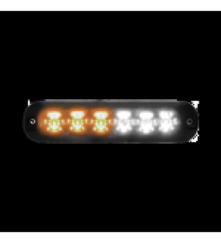 LUZ AUXILIAR SERIE X3705, 6 LEDS ULTRA BRILLANTES, COLOR AMBAR / CLARO
