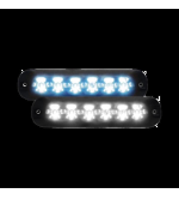 LUZ AUXILIAR SERIE X3705, 6 LEDS ULTRA BRILLANTES, MULTICOLOR  AMBAR / CLARO