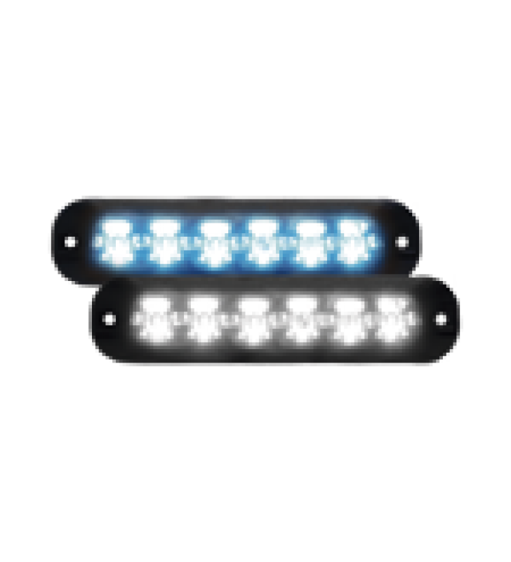 LUZ AUXILIAR SERIE X3705, 6 LEDS ULTRA BRILLANTES, MULTICOLOR AZUL / CLARO