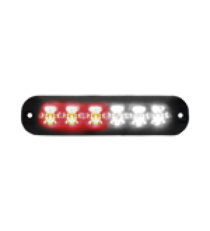 LUZ AUXILIAR SERIE X3705, 6 LEDS ULTRA BRILLANTES, COLOR ROJO / CLARO