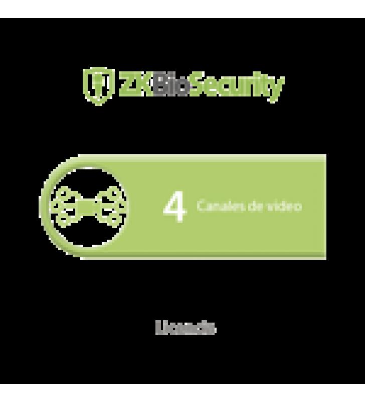 LICENCIA PARA ZKBIOSECURITY PARA MODULO DE VIDEO HASTA 4 CANALES DE VIDEO